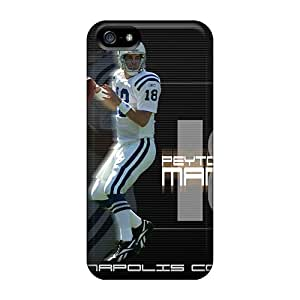 Best Hard Phone Covers For Iphone 5/5s With Provide Private Custom High-definition Indianapolis Colts Pattern DrawsBriscoe