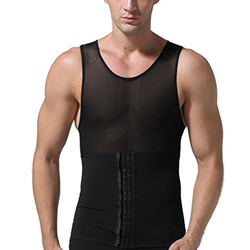 レーザ個人的なパーフェルビッドZhhlinyuan ファッション Mens Slimming High Compression Corset Vest Sportswear Underwears Fat Burnner Slim Instantly