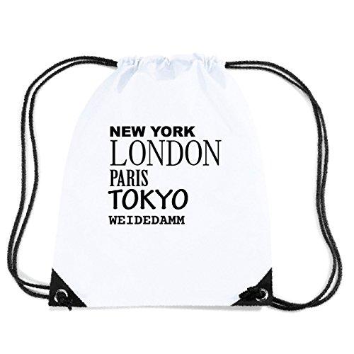 JOllify WEIDEDAMM Turnbeutel Tasche GYM625 Design: New York, London, Paris, Tokyo