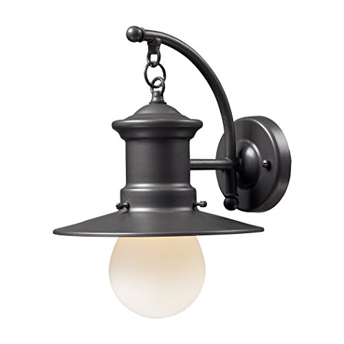 Alumbrada Collection Maritime 1 Light Outdoor Wall Sconce In Graphite