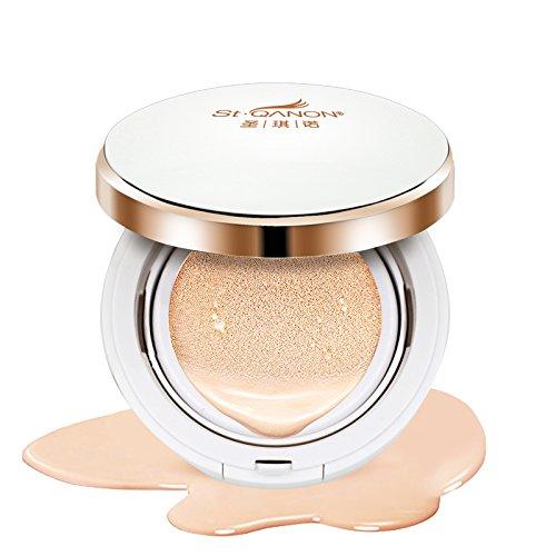 Cream Compact (STQANON BB CC Cream Air Cushion Foundation Compact Cover Moist Makeup SPF50+/PA+++ Medium Light 15g (0.5 Oz))