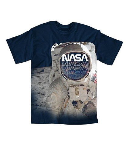 Astronaut Clothing - Nasa Face Mask Photo Adult T-Shirt (Small)