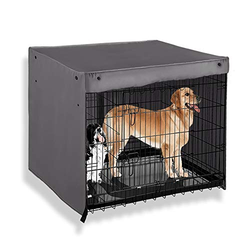 - PONY DANCE Dog Kennel Cover 100% Polyester Pet Cage Covers Blackout Shades Breathable for Animal Universal Fit Metal Crate Sizes/Light Block & Privacy Protect for Dogs | Cats | Birds