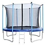 BestMassage 8FT Durable Round Jumping Trampoline Bounding Bed Table Combo With Safety Enclosure
