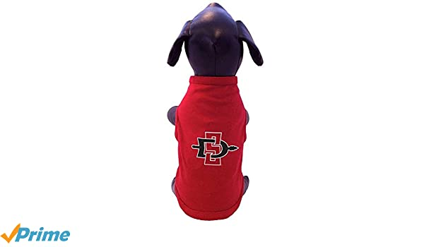 All Star Dogs NCAA San Diego State Aztecs Sleeveless Polar Fleece Dog Sweatshirt