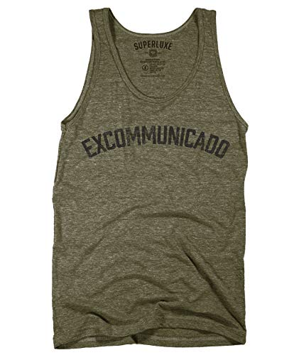 Superluxe Clothing Mens/Womens/Unisex Excommunicado Continental Blood Oath Coin Marker Tank Top Shirt, Military Green, Medium -