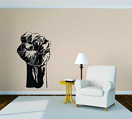 Closed Clenched Fist Vinyl Wall Decal Peel & Stick Graphic Sticker Picture Art Home Halloween Party Decoration Kids Boy Girl Teen Dorm Room Children – 22 Colors Available 20x34 -