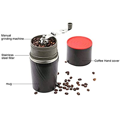 Zehui Coffee Mill Outdoor Portable 4-in-1 Stainless Steel Hand-operated Coffee Bean Grinder