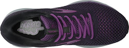 Brooks Women's Revel 2 Black/Purple/Grey 5.5 B US by Brooks (Image #1)