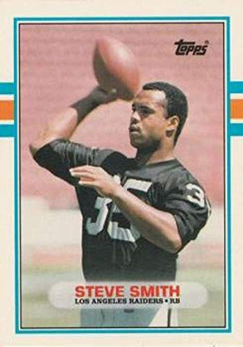 1989 Topps Traded #11T Steve Smith LA Raiders NFL Football Card (RC - Rookie Card) - Smith Steve Nfl Football