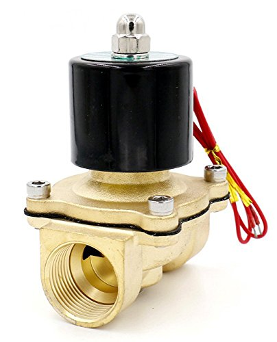 Normally Open Woljay Electric Solenoid Valve 2 AC 110V Water Air Gas NO Replacement Brass Valve