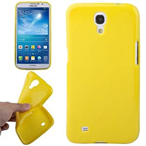 JUJEO Pure Color TPU Case for Samsung Galaxy Mega 6.3/I9200 - Non-Retail Packaging - Yellow