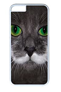 Big Face Hamilton The Hipster Cat Custom iPhone 6 Case Cover Polycarbonate White