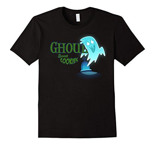 Mens Ghoul Scout Cookies Girls Joke Halloween Costume Mask Shirt 2XL (Zombie Girl Scout Halloween Costume)