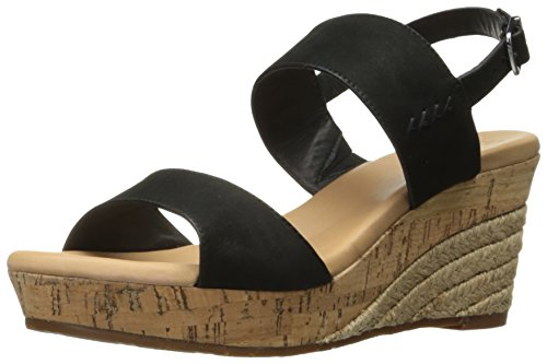 UGG Women's Elena Wedge Sandal, Black, 7 US/7 B (Ugg Women Sandals)