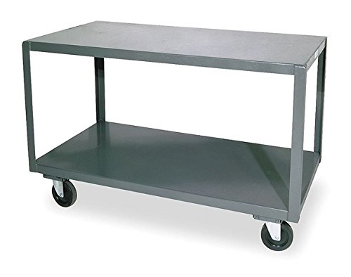 Durham-HMT-3672-3-95-Welded-14-Gauge-Steel-High-Deck-Portable-Table-3-Shelves-1200-lbs-Capacity-36-Length-x-72-Width-x-30-Height
