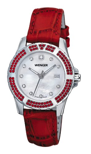Wenger Women's 70310 Sport Elegance Red Leather Strap Watch