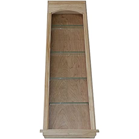WG Wood Products Standard In The Wall Pearland Cove Niche Shelves 42 Unfinished Pine