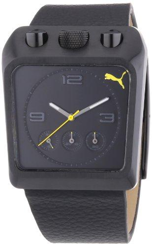 Puma Guard Chronograph Black Dial Black PVD Mens Watch PU102501002