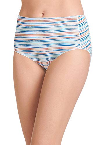 (Jockey Women's Underwear No Panty Line Promise Tactel Hip Brief, Pixie Stripe, 8)
