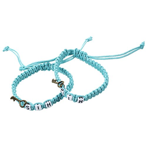 SODIAL(R) his and hers lover bracelet,couple bracelet,valentine's day Birthday Wedding Anniversary Gift(Light blue) (Bracelet Tiffany Blue)