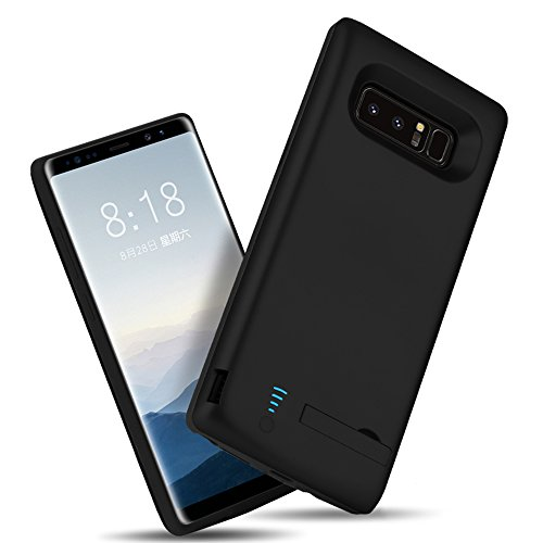 RUNSY Samsung Galaxy Note 8 Battery case 6500mAh Rechargeable Extended Battery Charging case External Battery Charger case Backup strength Bank case because of S Pen Hole Black Battery Charger Cases