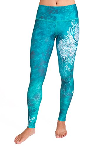 Inner Fire Yoga Pants for Women - Eco Friendly Fabric - High Waisted Tummy Control - Breathable, Moisture Wicking, Quick Dry for Workout, Fitness, Running (Deer Love)(Small)
