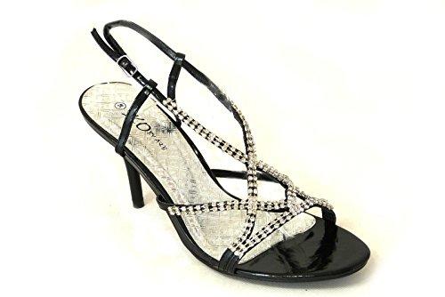 SKOS - Sandalias de vestir de Material Sintético para mujer - Black (99)