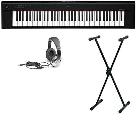 Yamaha NP-30 32B Juego con soporte y auriculares: Amazon.es ...