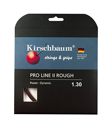 Kirschbaum Set Pro Line II Rough Tennis String, 1.30mm/16Gauge, Black