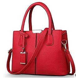 Leather Handbag Ladies Messenger Bag Crossbody Shoulder Bags Bolsos Lm4324ay2 Wine Red 30cm