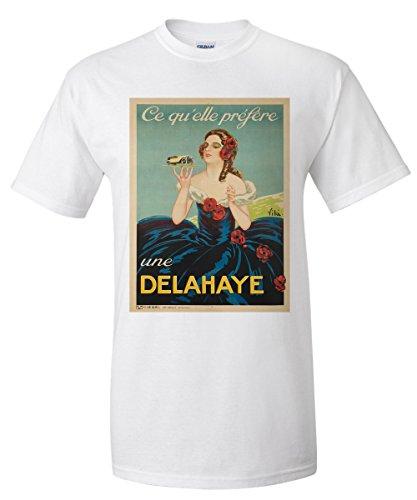 delahaye-vintage-poster-artist-vila-france-c-1935-white-t-shirt-xx-large