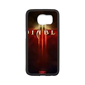 Back Skin Case Shell Samsung Galaxy S6 Cell Phone Case Black diablo igry Nmbtb Pattern Hard Case Cover