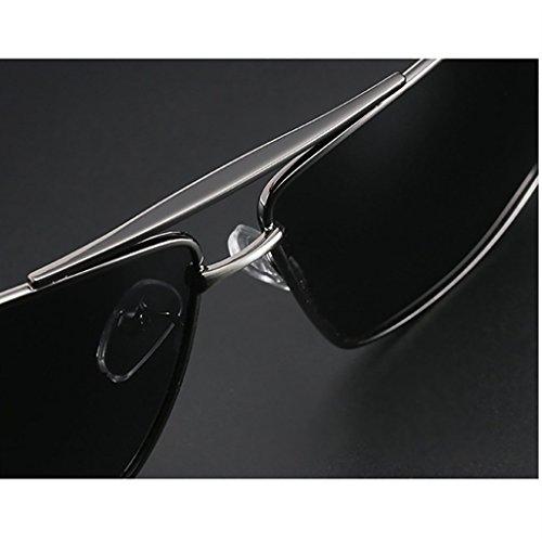 polarisées Couleur Lunettes HGyanjing Mode Sunglasses de de Chaude Soleil Mode pour de de Lunettes Hipster Lunettes A Lunettes Mirror Lunettes Soleil B carrées Hommes Soleil Driver Conduite SHSrxR