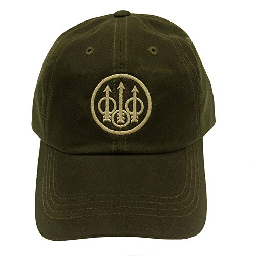 Beretta Mens Waxed Cotton Hat; Green Olive; One Size