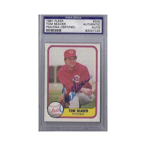 - Tom Seaver Signed 1981 Fleer - PSA/DNA Certified - Baseball Slabbed Autographed Cards