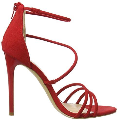 Dames Inconnues Harnais W Pompes À Lanières En Rouge