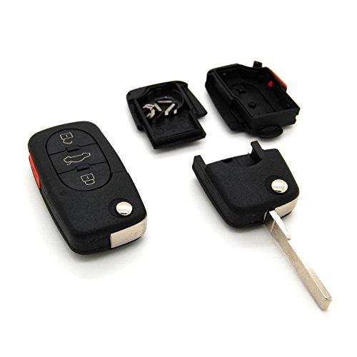 Carcasa para llave con telemando de 3 botones, para Audi A1 ...