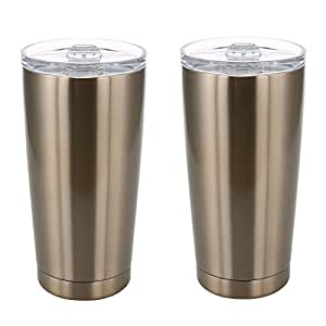 Member's Mark 20 oz. Stainless Vacuum Insulated Tumblers, Set of 2, Champagne