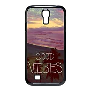 First Design Funny Good Vibes Hipster Quote HARD Samsung Galaxy S4 I9500 Durable Case