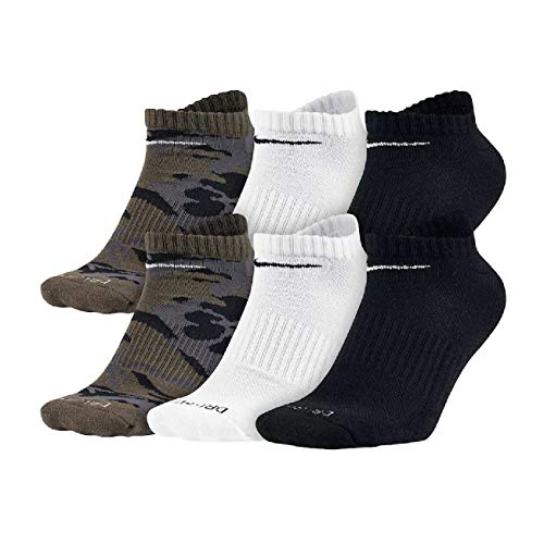 - Nike Mens Dri-Fit Cushion No Show 6-Pair Multicolor2 Large (Men's Shoe 8-12)