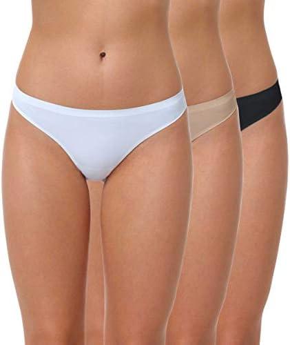 Yenita® Tanga Sin Costuras de Microfibra para Mujer, Pack de 3 ...