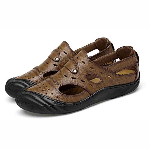 in sport esterno pelle Dimensione da da inglese Colore C traspiranti scarpe Baotou stile Sandali casual chiusa UN 41 uomo punta estivi da spiaggia sandali wE1xqIWZ