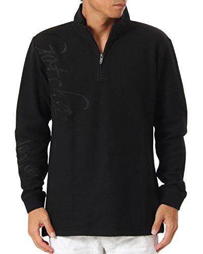 [ガッチャ ゴルフ] GOTCHA GOLF ポロシャツ 長袖 ニットソー ハーフジップ シャツ 173GG1201