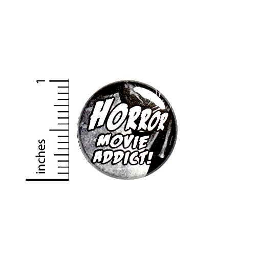 Horror Movie Addict Button Pin Movies Flicks Backpack Pinback 1