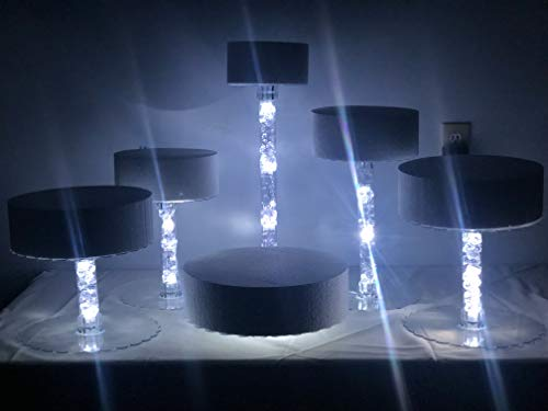 Add On Tube Filler for - Multi Tier Wedding Cake Stand with LED Lights and Optional Water Fountain (6 Tier Set)
