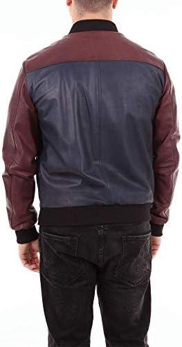 EMANUELE CURCI Luxury Fashion Uomo NAPPARODRIGOBLUEBORDEAUX Blu Pelle Giacca Outerwear   Stagione Outlet