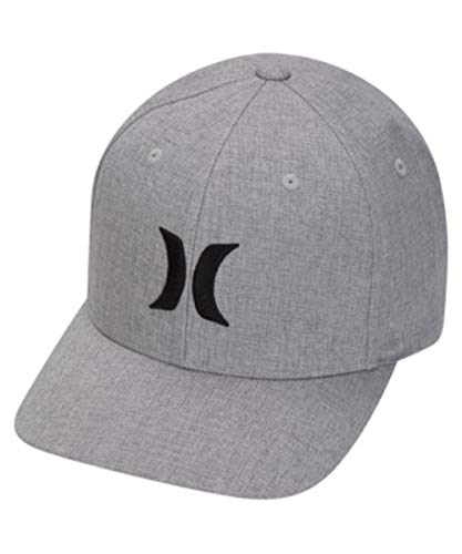 Hurley Men's Black Textures Baseball Cap, Wolf Grey, L-XL ()