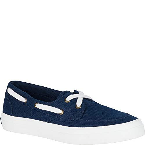 - SPERRY Women's Crest Boat Sneaker, Navy, 8
