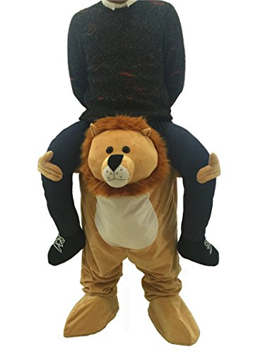 Piggyback Costume Christmas (Piggyback Ride Adult Halloween Costume Party Dress Role Play Suit (Lion))